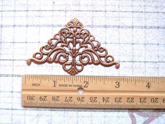 "4pcs 3""X2"" Filigree Corner Copper Tone (FTC-02)"