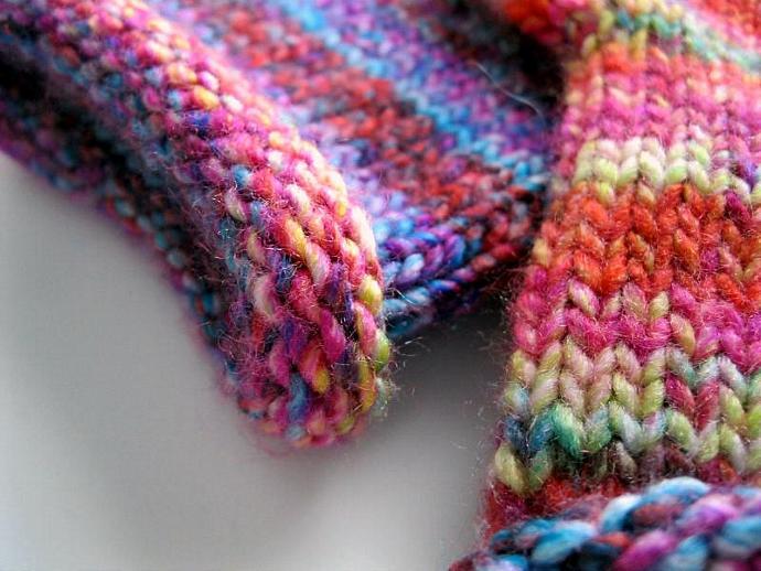 Womens mittens, ladies, acrylic, medium