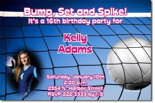 Volleyball Birthday Invitations (Download JPG IMMEDIATELY)