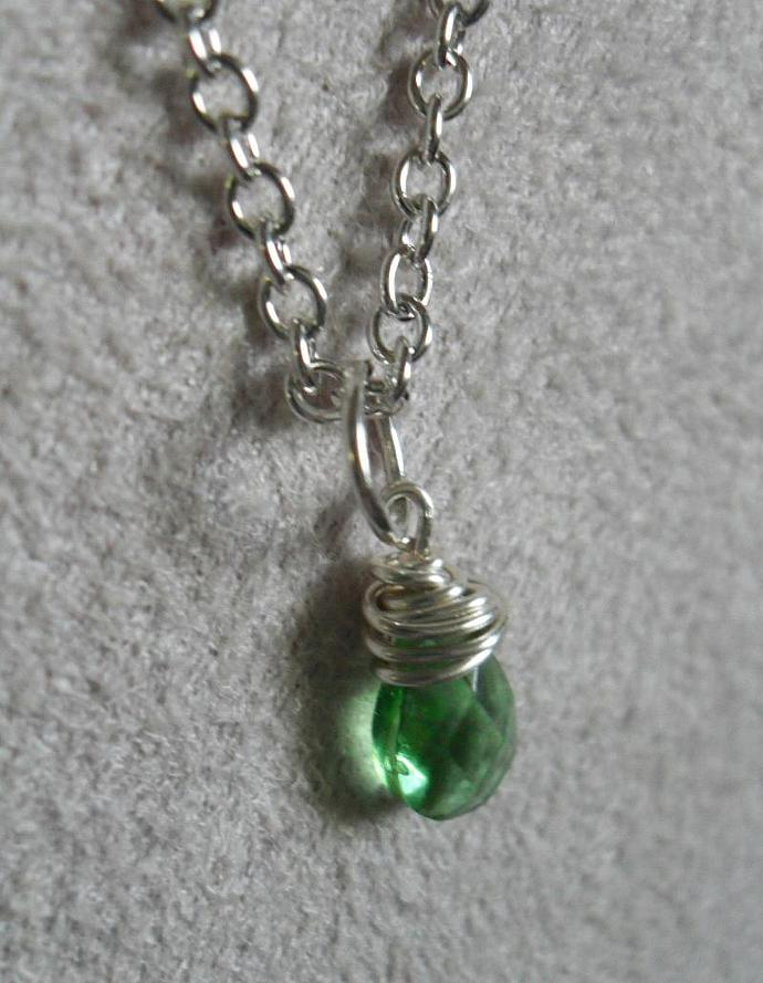 Tiny Tear Drop - Mint