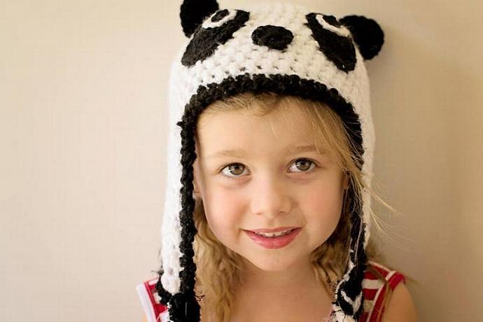 Panda Crochet Hat - Made to Order