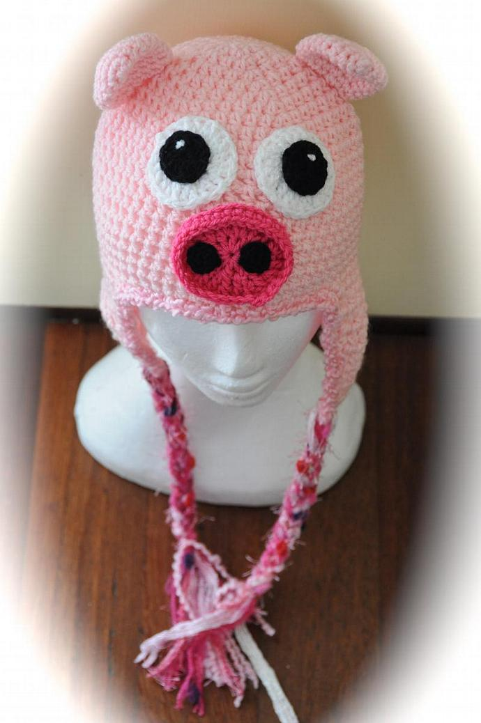 Piggy Crochet Hat - Made to Order