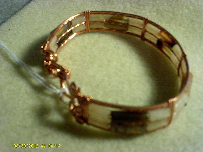 Copper Wire wrapped bracelet-Item # 0165