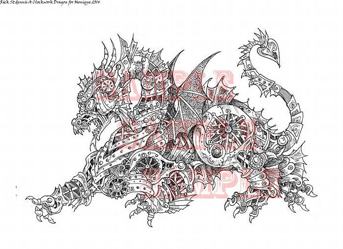 A Clockwork Dragon for Monique Digi Stamp