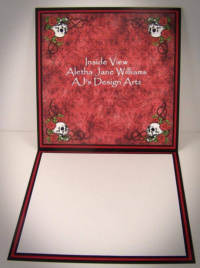Gothic Handmade Blank Greeting Card