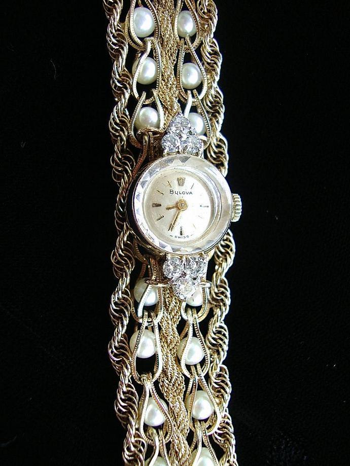 sale, pearl, diamond, gold watch