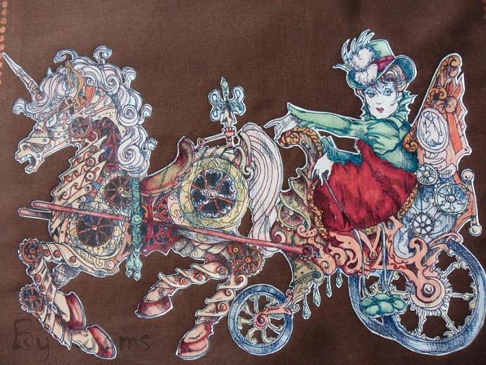 A Clockwork Pony Cart for Helen Digi Stamp