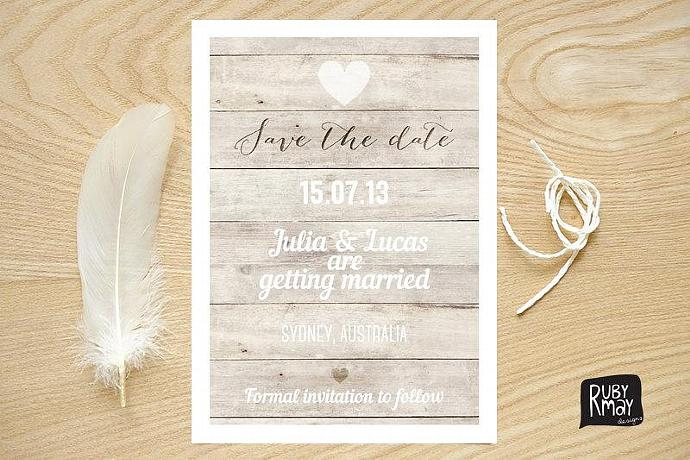 Nautical Save the Date, Beach Wedding, Rustic Save the Date - digital file,