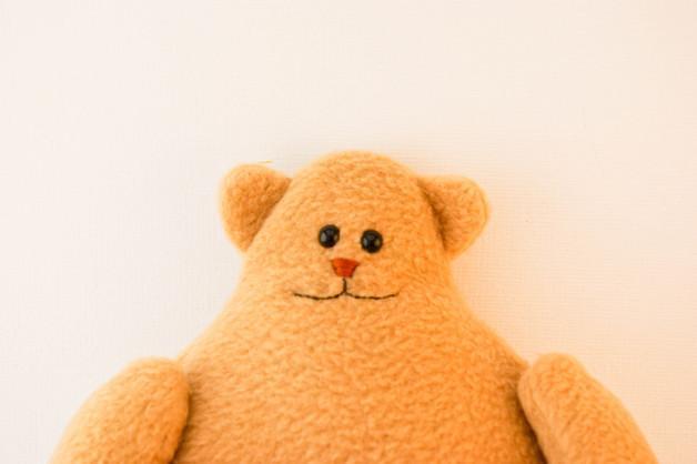 Bear with heart, fleece toy