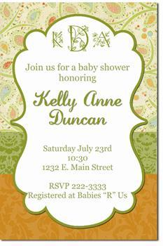 Monogram Baby Shower Invitations *ANY COLOR SCHEME* (Download JPG Immediately)