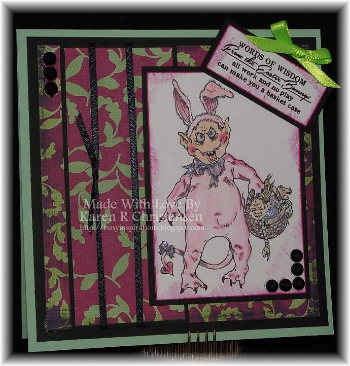 Creepster Bunny with Goodies digital Stamp