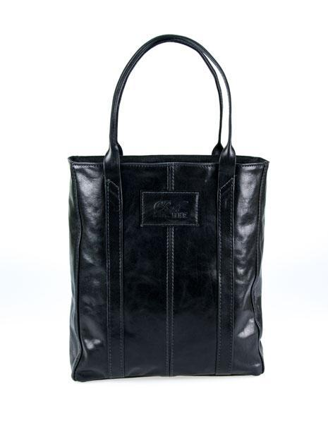 Black Leather Tote Bag - Made in Australia.