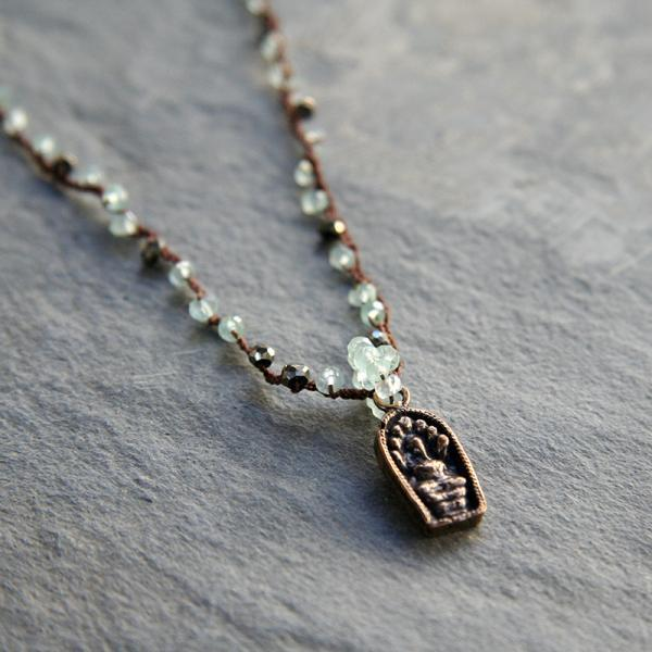 Bronze Buddha Necklace