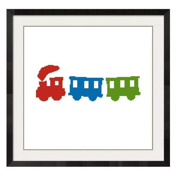 ALL STITCHES - TRAIN CROSS STITCH PATTERN .PDF -998