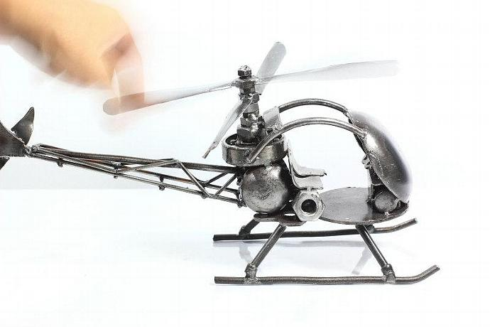 Unique Metal Art Sculpture Helicoptor Welded Recycled Steel Unique Art
