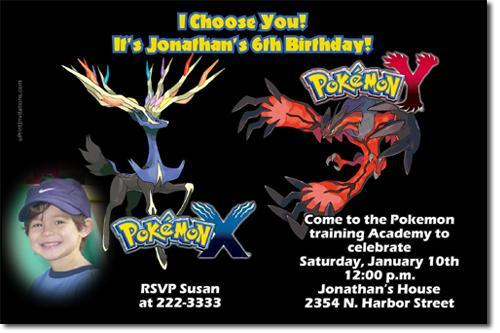 Pokemon Birthday Invitations (download JPG immediately)