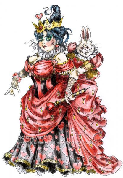 The Crazy Queen of Hearts digi stamp