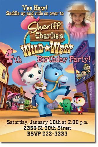 Sheriff Callie Birthday Invitations (download jpg immediately)