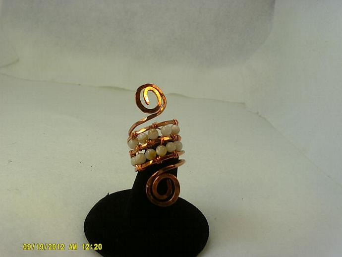 Copper and Shell Ring-Item # 0154