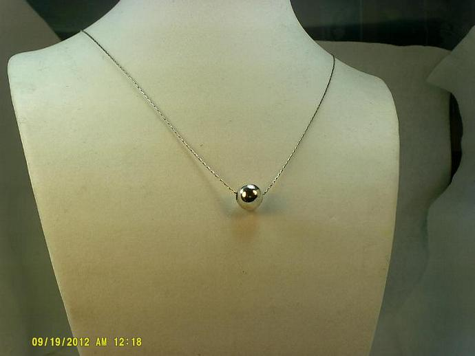 Sterling Silver Ball Necklace-Item # 0152