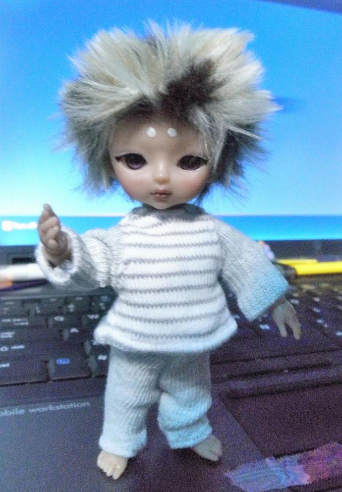 Grey shirt STRIPED  body for Hujoo Baby & Jun Planning Ai