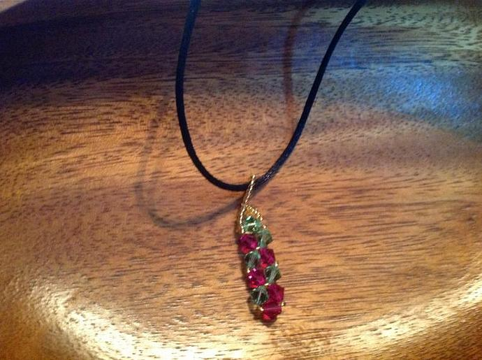 RUBY & PERIDOT CRYSTALS     450 - 012