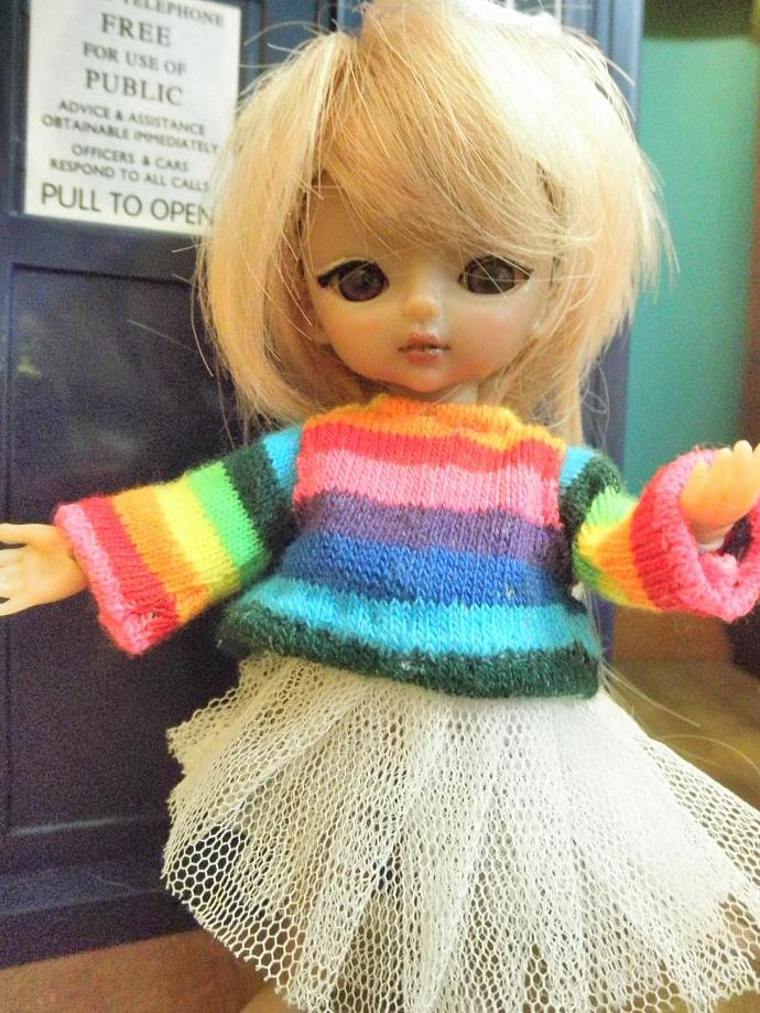 Rainbow stripes shirt for Hujoo Baby