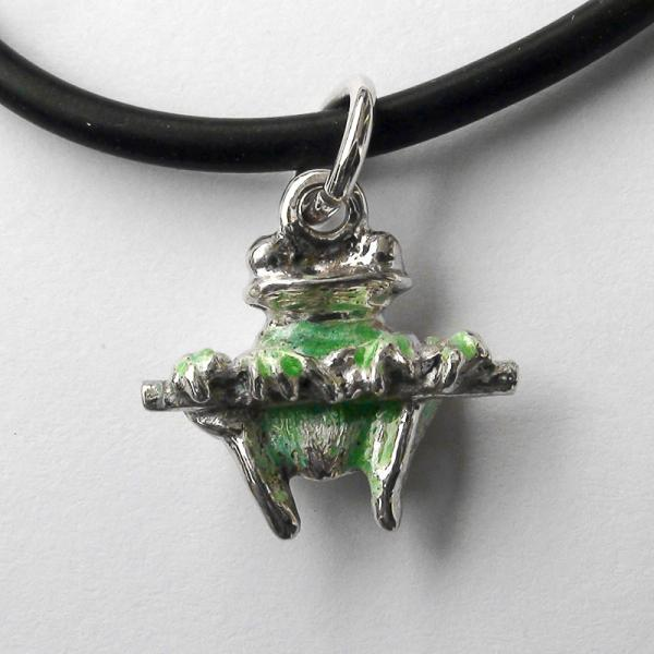 "Original work  Sterling Silver pendant ""Frog"""