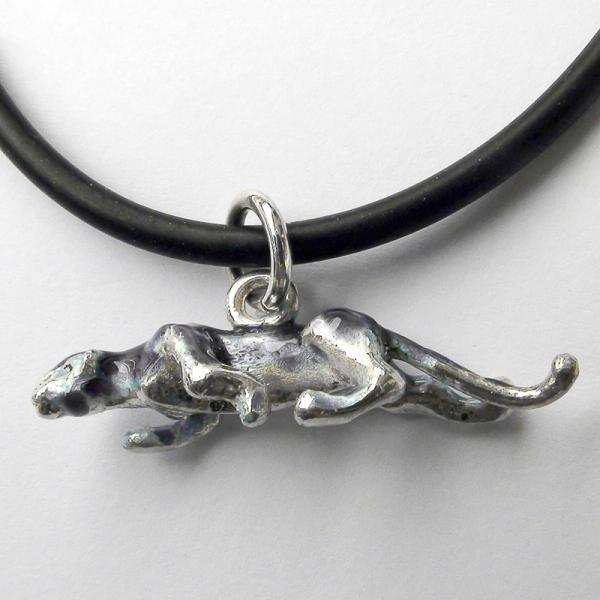 "Original work Sterling Silver pendant ""Panther"""