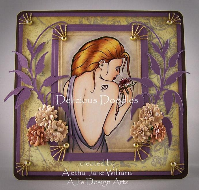 Zodiac Virgo Handmade Greeting Card