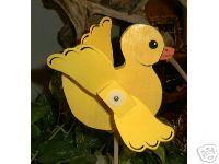 Whirligig Little yellow duck  Handcrafted