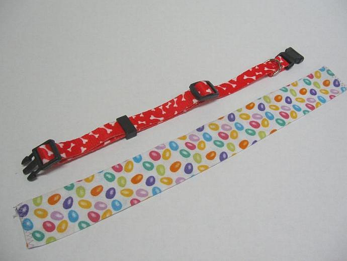 Easter Jellybeans Dog Collar Slipcover, a bandana alternative