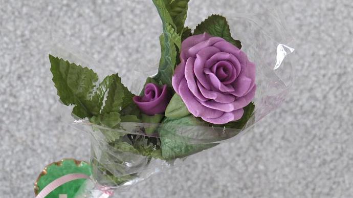 Lavender Bread Dough Rose