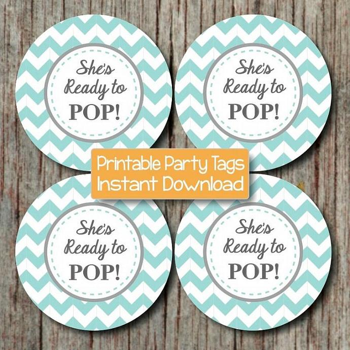 ready to pop printable boy baby shower favor tags printable party