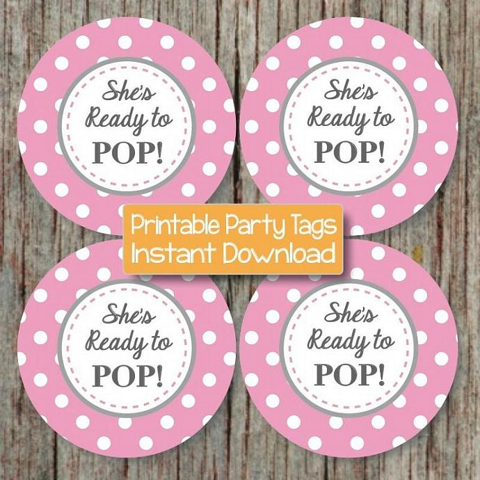 ready to pop baby shower printable party decorations favors baby