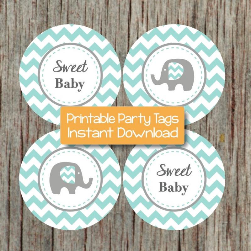 This is a photo of Delicate Free Printable Elephant Baby Shower