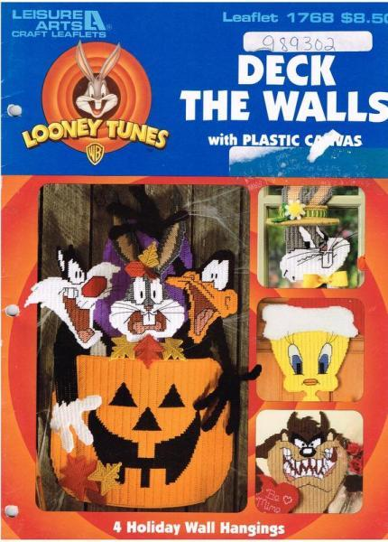 Looney Tunes Deck The Walls With Plastic Canvas Pattern Book