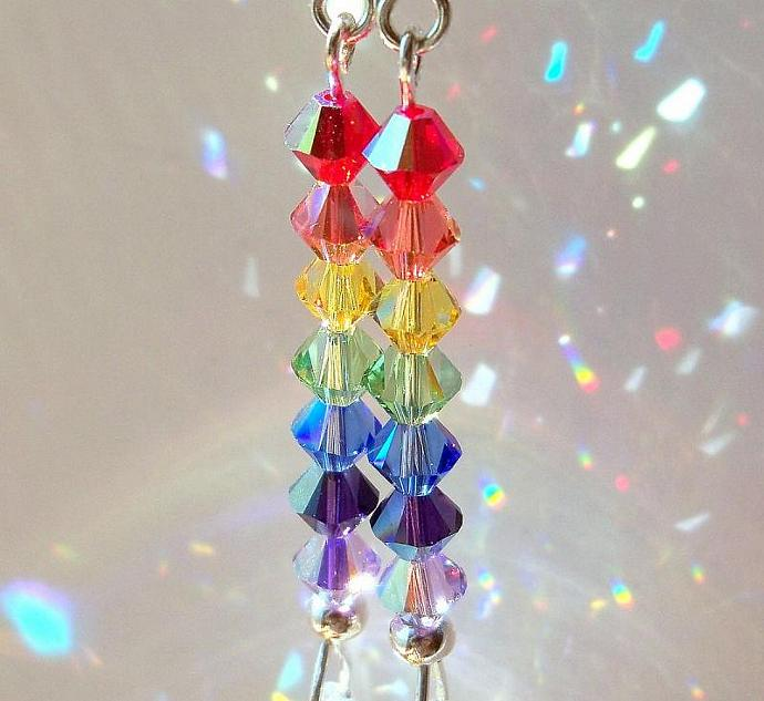 """Rainbow Sun Catcher""  Earrings"