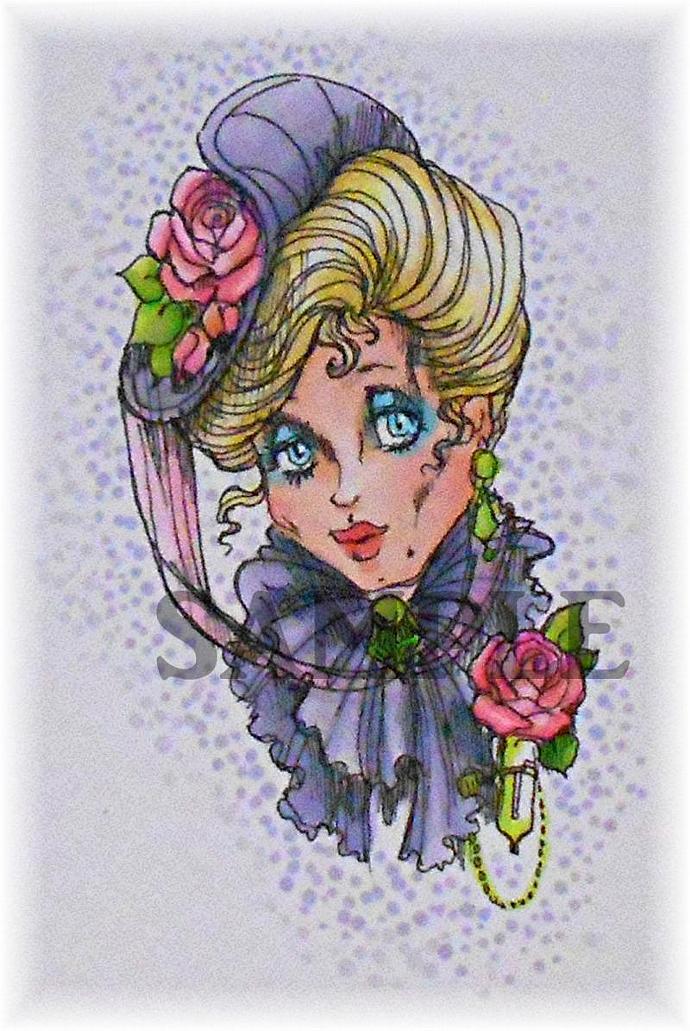 June Rose digital stamp