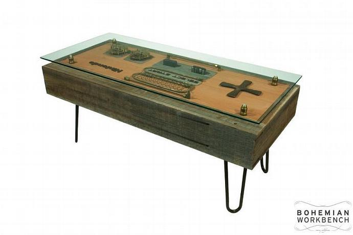 Reclaimed / Steampunk Nintendo Controller Coffee Table