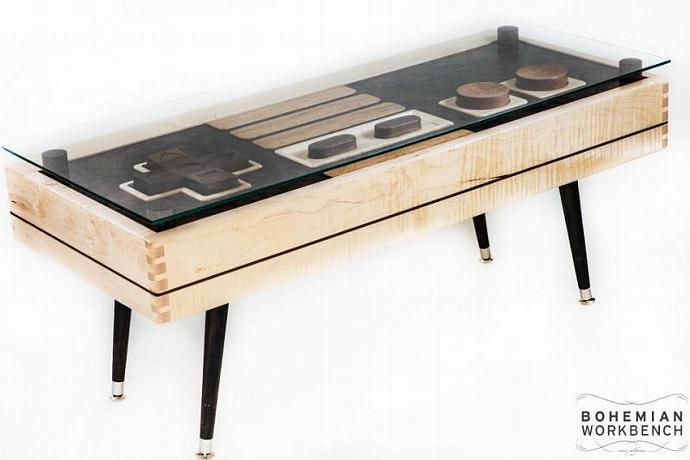 Nintendo Controller Coffee Table Maple / Walnut - FUNCTIONAL