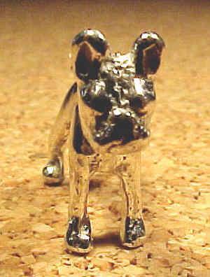 Boston Terrier 3D charm, sterling silver