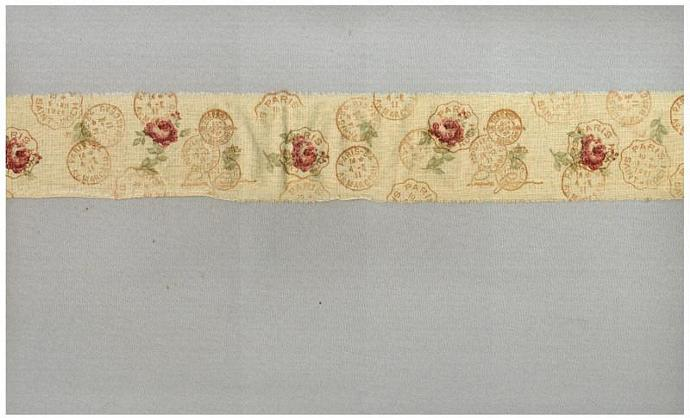 paris postmarks postage muslin rubber stamped french script handmade tea dyed