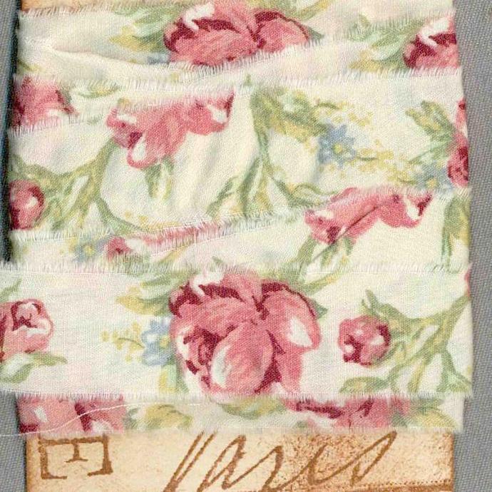 4 yards French chic Paris tag rose pink ribbon handmade french market trim seam