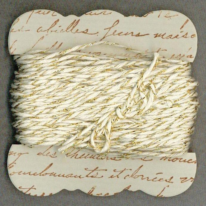 20 yards bakers twine gold sparkle hand made ribbon card french script gift r869