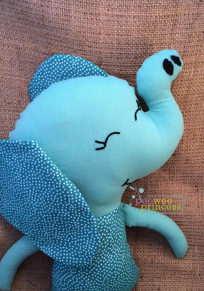 Elephant Softie Blue