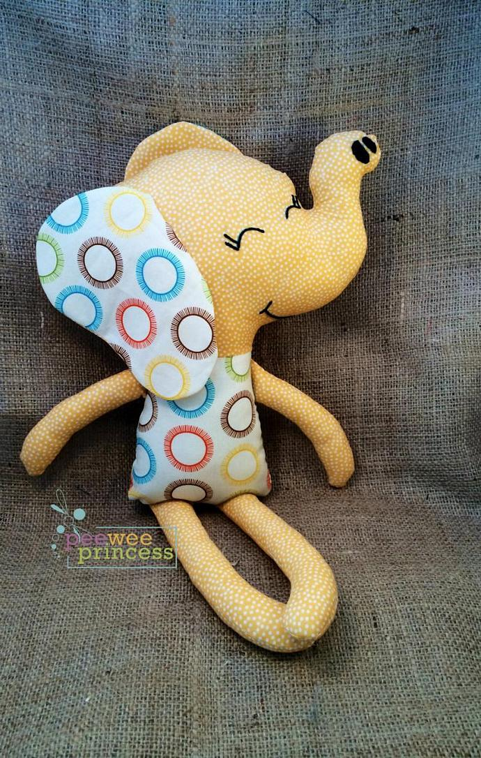 Elephant Softie Yellow