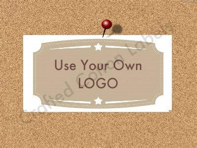 "Add Your Logo - ""Iron On"" or "" Sew In"" - Cotton Fabric Labels (White) - For"