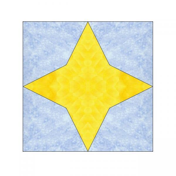 ALL STITCHES - STAR PAPER PIECING QUILT BLOCK PATTERN .PDF -123A