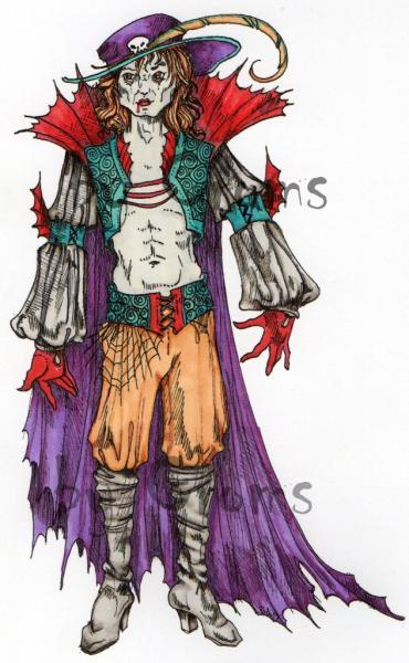 Vampyr Masquerade (Male)  digi stamp